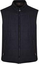 Corneliani Dark Blue Reversible Wool Blend Gilet