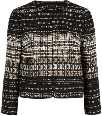 Paule Ka Textured metallic-weave boucle-knit jacket