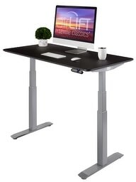 Seville Classics AIRLIFT S3 Electric Standing Desk Frame With 54 in Top, Dual Motors