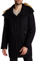 Andrew Marc Brewster Faux Fur Trim Hooded Jacket