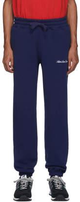 Leon Aime Dore Navy Terry Logo Lounge Pants