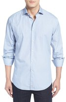 Thomas Dean Classic Fit Dot Print Sport Shirt