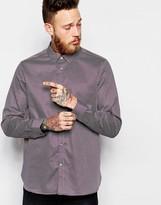Ted Baker Geo Print Shirt In Slim Fit - Purple