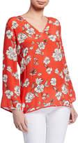 Tolani Simone Floral Print Long-Sleeve Tunic