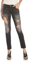 True Religion Rhinestone Low-Rise Relaxed Skinny Fit Jeans