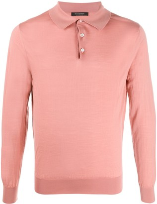 Ermenegildo Zegna Long-Sleeved Knitted Polo Shirt