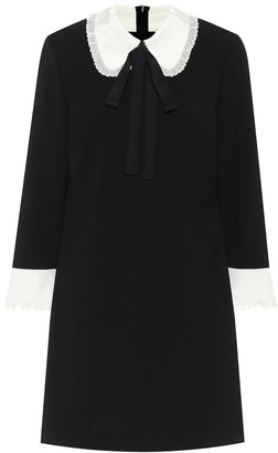 RED Valentino Tie-neck stretch-crepe minidress
