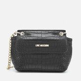 Love Moschino Women's Croc Small Cross Body Bag - Black