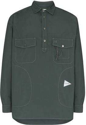 and wander Button-Placket Long-Sleeve Shirt