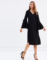 Mng Ruffle Sleeve Dress