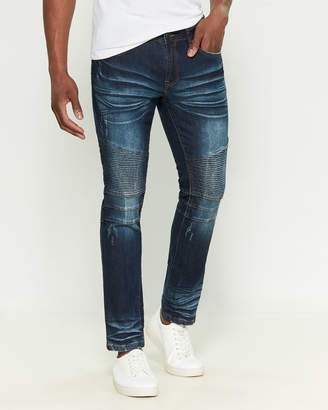 X-Ray X Ray Distressed Moto Stretch Jeans