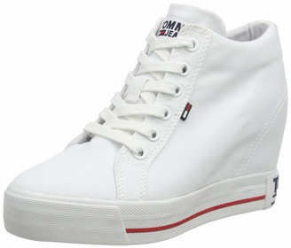 Tommy Jeans Tommy_Jeans Women's Wedge Casual Sneaker Low-Top