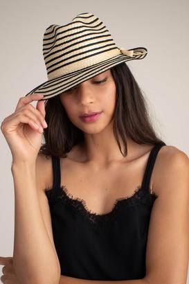 Trina Turk Nautical Stripe Raffia Hat