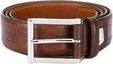Santoni croc-effect belt - men - Leather - 95