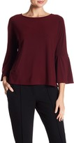 Vince Camuto Solid Bell Sleeve Top