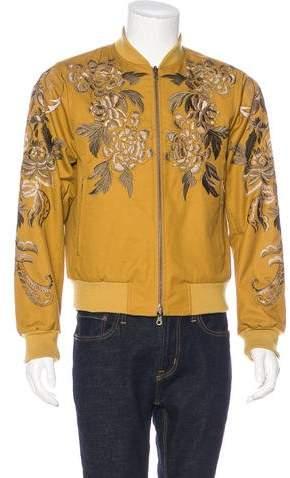 Dries Van Noten Reversible Embroidered & Satin Jacket