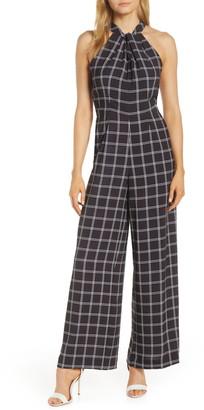 Julia Jordan Halter Neck Pocket Jumpsuit