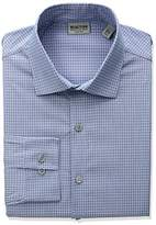 Kenneth Cole Reaction Men's Technicole Slim-Fit Check Spread Collar Dress Shirt
