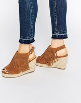 Miss KG Peyton tan Espadrille Wedge Heeled Sandals