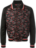 Lanvin embroidered crane bomber jacket - men - Polyester/Silk/Cupro/Viscose - 48