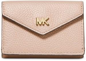 Michael Kors Michael Pebble Leather Trifold Flap Wallet