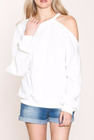 Listicle Cold Shoulder Sweatshirt