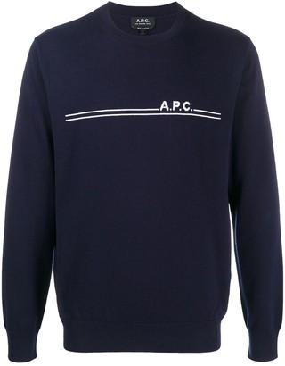 A.P.C. Front-Logo Crewneck Jumper