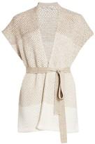Agnona Cashmere & Linen Kimono Cardigan