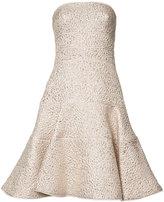 Oscar de la Renta strapless flared dress - women - Cotton/Polyester - 10