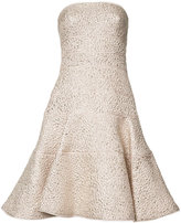 Oscar de la Renta strapless flared dress