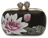 Alexander McQueen Queen & King Embroidered Satin Clutch - None