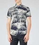 Reiss Mccawly Palm Print Shirt