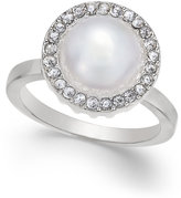 INC International Concepts Silver-Tone Imitation Pearl Halo Ring, Only at Macy's