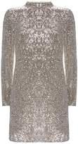 Mint Velvet Silver Sequin Mini Dress