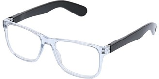Peepers Unisex-Adult Hutch - Clear/black 2536100 Square Reading Glasses
