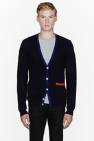Band Of Outsiders Navy classic wool cardigan
