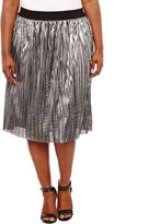 PROJECT RUNWAY Project Runway Solid Knit Pleated Skirt Plus