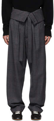 Loewe Grey Belted Overall Trousers
