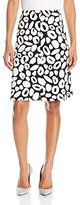 Nine West Women's Printed Twill Fit and Flare Skirt