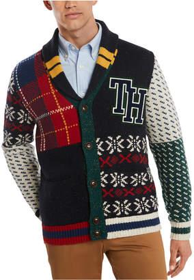 Tommy Hilfiger Men Summit Multi-Pattern Shawl Collar Sweater