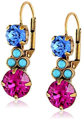 "Sorrelli Southwest Brights"" Clustered Circular Crystal Drop Earrings"
