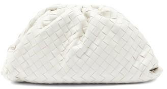 Bottega Veneta The Pouch Intrecciato Leather Clutch Bag - White