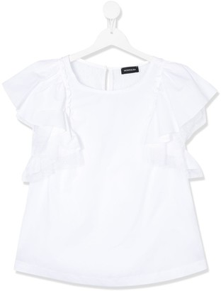 MonnaLisa TEEN frill sleeve T-shirt