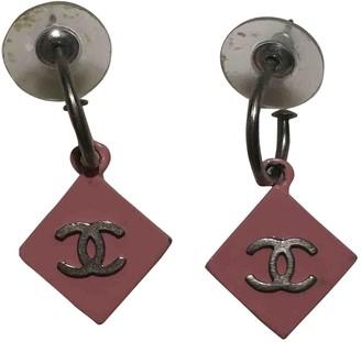 Chanel Pink Plastic Earrings