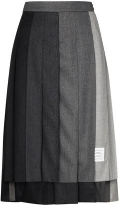 Thom Browne Panelled Pleated Midi Skirt