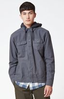 RVCA Step Down Hooded Long Sleeve Button Up Shirt
