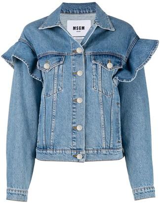 MSGM Ruffled Denim Jacket