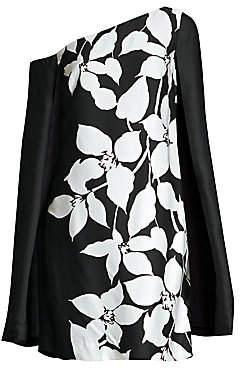 Trina Turk Women's Jazzy Floral Cape Mini Dress