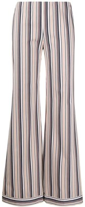 Romeo Gigli Pre Owned 1990s Striped Wide-Legged Trousers