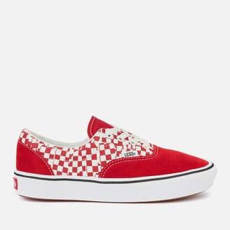 Vans ComfyCush Era Tear Check Trainers - Racing Red/True White